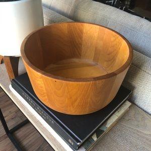 Crate & Barrel Wood Acacia Bowl